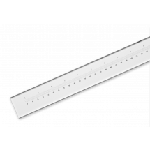 Uniscale Chrome Glass Measuring Ruler