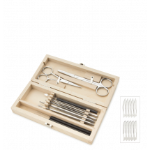 9 Piece Dissecting Set in Wooden Case | Euromex PB.5114