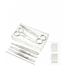 8 Piece Dissecting Set For Koi Fish in Case